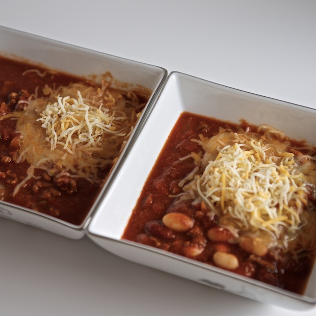 Spicy Chili, with and without beans