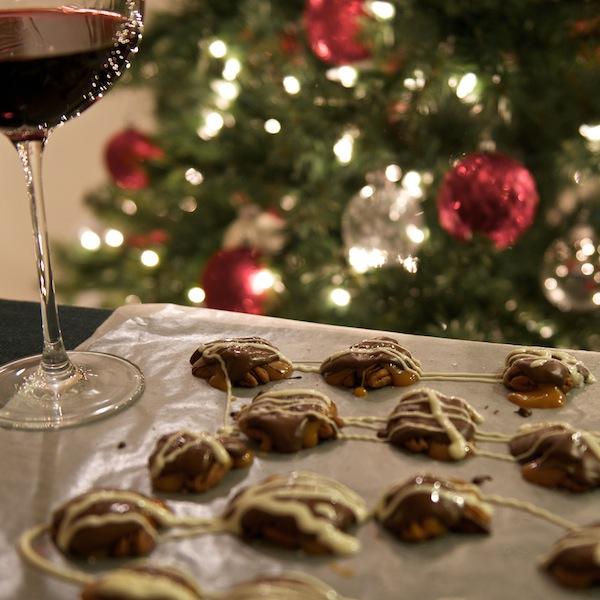 Chocolate Caramel & Pecan Clusters