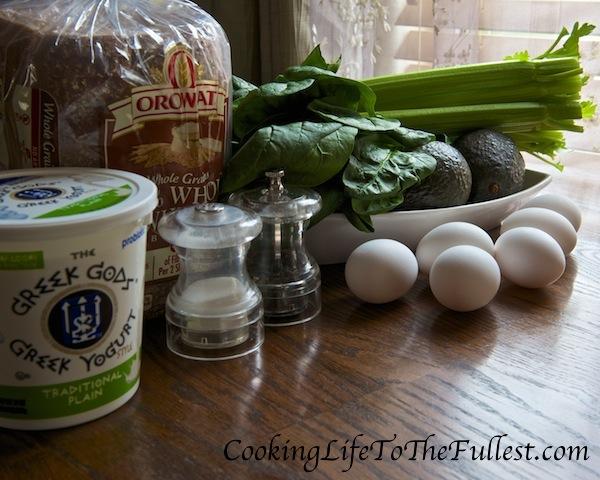 Avocado Spinach And Egg Salad