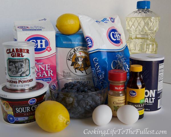 Blueberry, Lemon and Sour Cream Bread