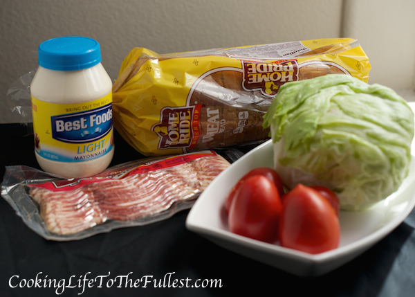 BLT - Bacon, Lettuce and Tomato Sandwich Ingredients