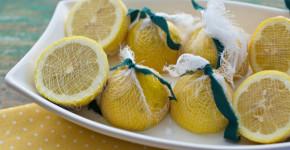Fresh Lemon Juice Garnish