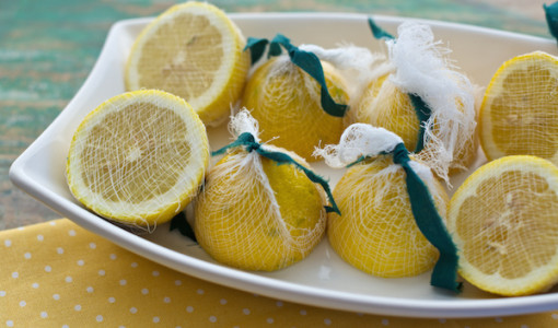 Fresh Lemon Juice Garnish