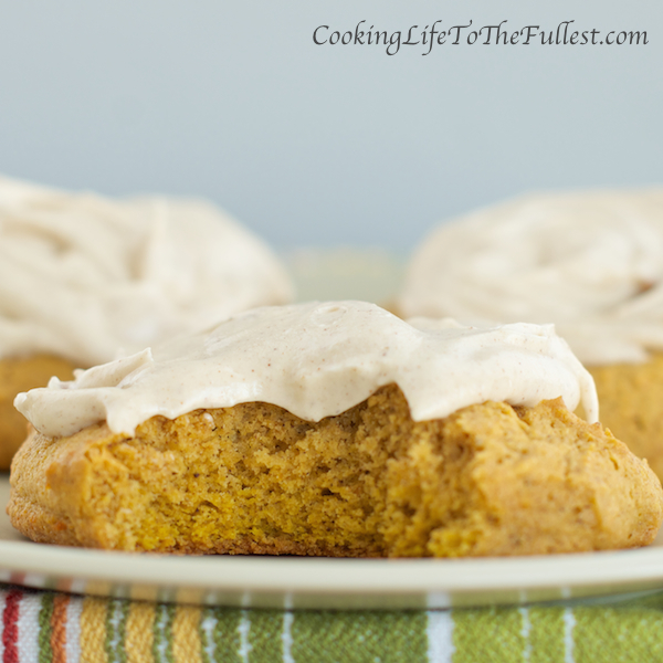 Pumpkin Cookies With Cinnamon Icing Recipe — Dishmaps