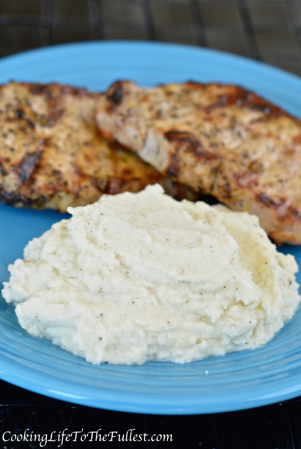 Garlic-Parm Cauliflower Mash