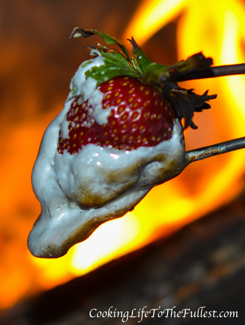 Campfire Roasted Strawberries