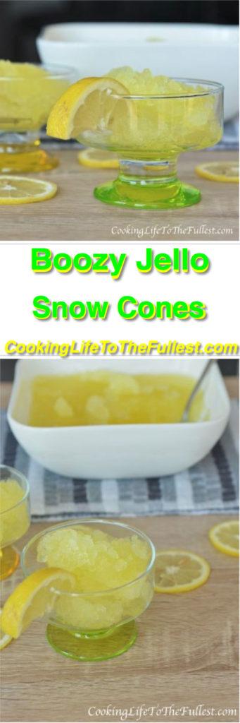 Boozy Jello Snow Cones