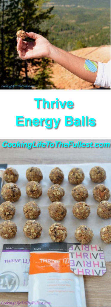 Thrive Energy Balls. The THRIVE Experience is an 8-week premium lifestyle plan to help individuals experience and reach peak physical & mental levels. Live, look, and feel Ultra Premium like never before! Watch the cooking video on website.